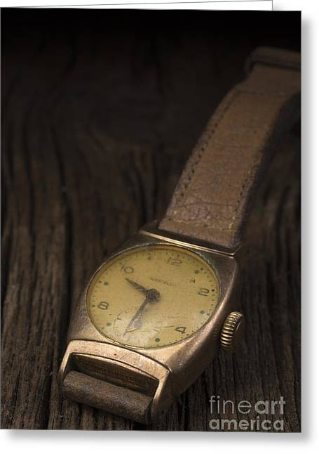 Old Objects Greeting Cards - The Old Wrist Watch Greeting Card by Edward Fielding