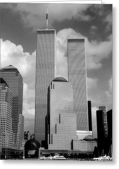 Recently Sold -  - Civil Greeting Cards - The Old WTC Greeting Card by Joann Vitali