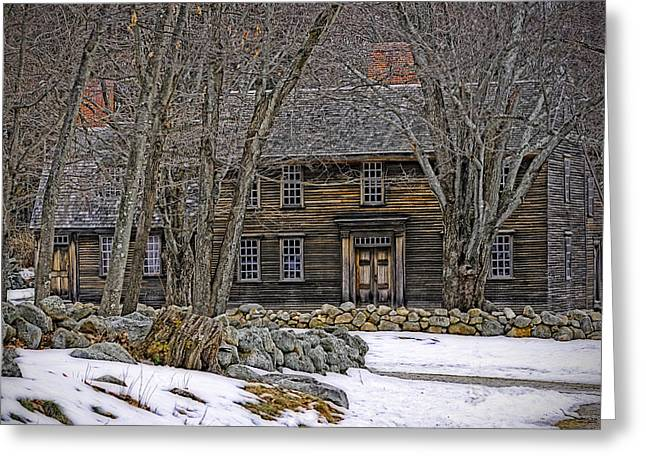 Concord. Historic Greeting Cards - The Olde Tavern Greeting Card by Richard Bramante