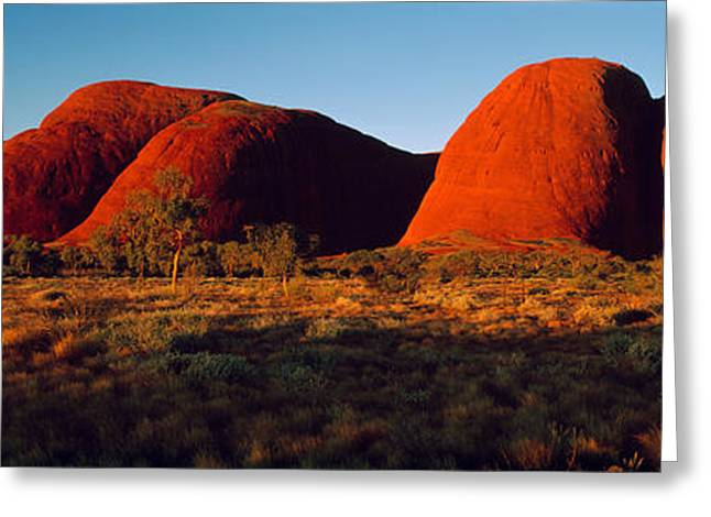 Biosphere Reserve Greeting Cards - The Olgas N Territory Australia Greeting Card by Panoramic Images