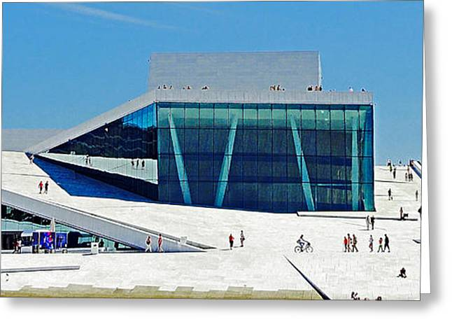 The Houses Greeting Cards - The Olso Opera House Greeting Card by Mary Machare
