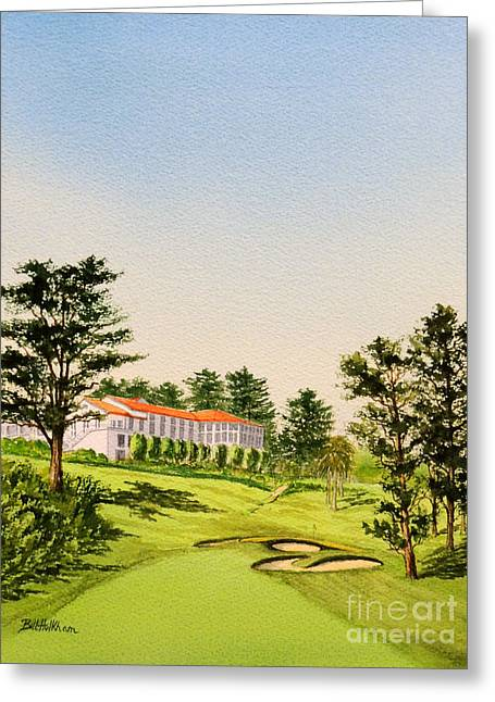 Clubhouse Greeting Cards - The Olympic Club - 18Th Hole Greeting Card by Bill Holkham