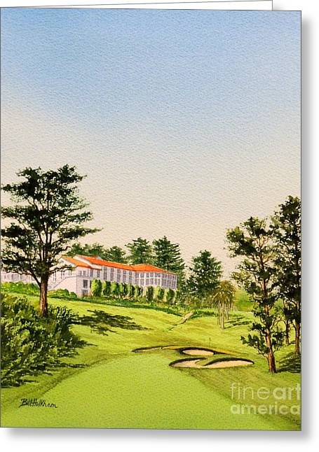 Us Open Greeting Cards - The Olympic Club - 18Th Hole Greeting Card by Bill Holkham