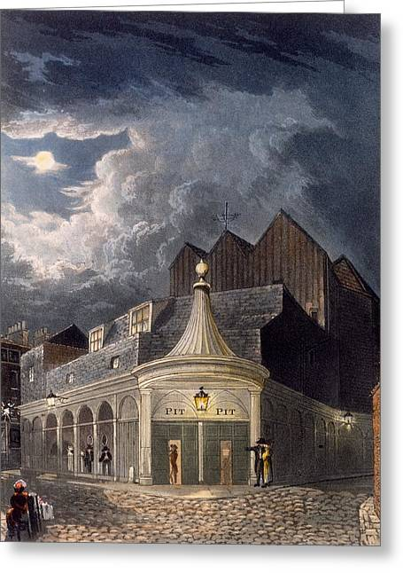 Establishment Greeting Cards - The Olympic Theatre, 1826 Greeting Card by Daniel Havell