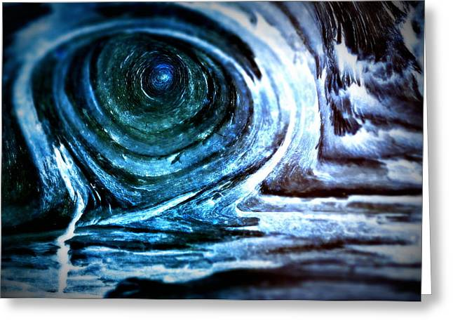 Knotty Greeting Cards - The Ominous Eye Greeting Card by Lisa Holland-Gillem