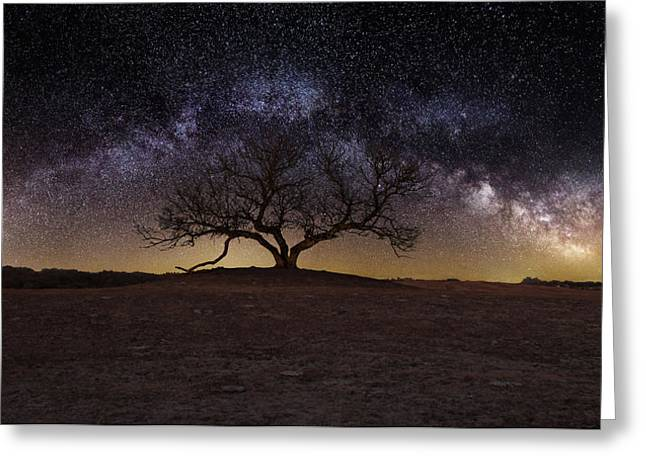 Milky Way Photographs Greeting Cards - The One Greeting Card by Aaron J Groen