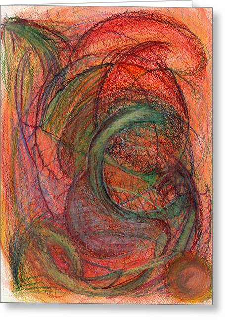 Bright Drawings Greeting Cards - The one who overcame Greeting Card by Kelly K H B