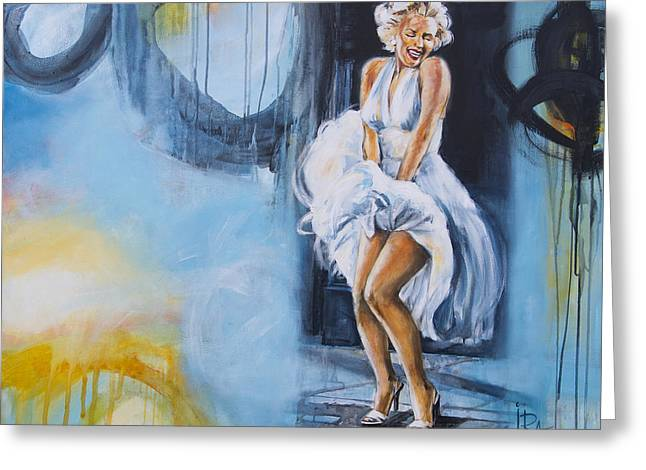Women Only Paintings Greeting Cards - The Only Blonde... Greeting Card by Ira Ivanova