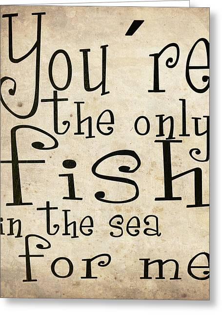 Cute Digital Art Greeting Cards - The only fish in the sea for me Greeting Card by Nicklas Gustafsson