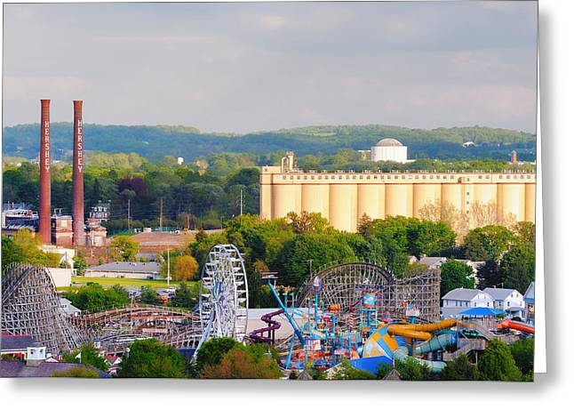 Recently Sold -  - Jordan Greeting Cards - The Only Hershey Park Greeting Card by Mark Jordan