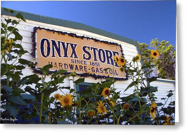 Deli Greeting Cards - The Onyx Store Sunflowers Greeting Card by Barbara Snyder