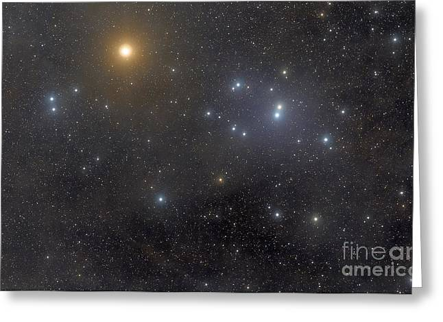 Double Cluster Greeting Cards - The Open Cluster Hyades, Also Known Greeting Card by Rogelio Bernal Andreo