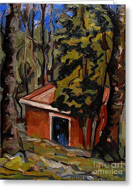 Dilapidated Paintings Greeting Cards - The Open Door Greeting Card by Charlie Spear