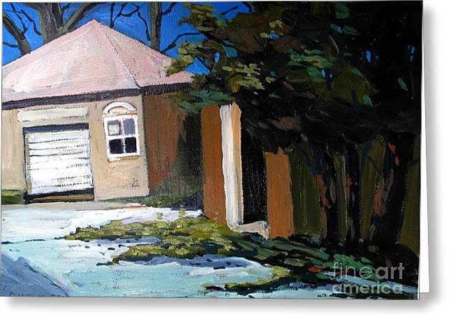 The Open Door In The Golf Shed Series No.7 Greeting Card by Charlie Spear
