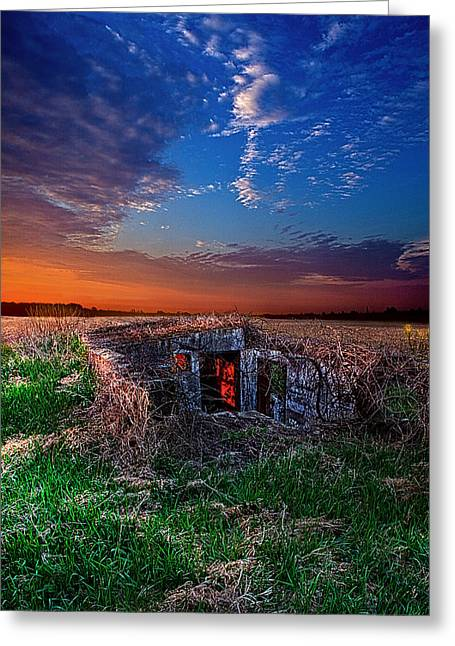 Abandonded Greeting Cards - The Open Window Greeting Card by Phil Koch