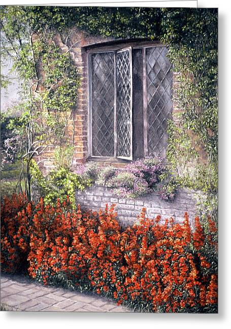 Historical Buildings Pastels Greeting Cards - The Open Window Greeting Card by Rosemary Colyer
