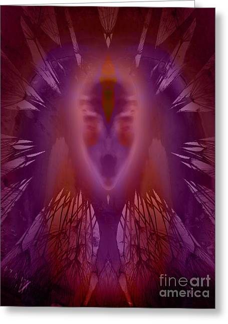 One Spirit Greeting Cards - The Oracle Greeting Card by Robert Ball