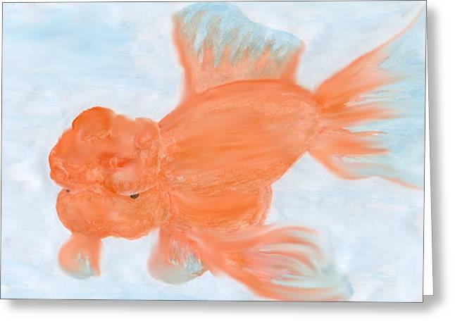 Oranda Greeting Cards - The Oranda Greeting Card by Jesse Saviano