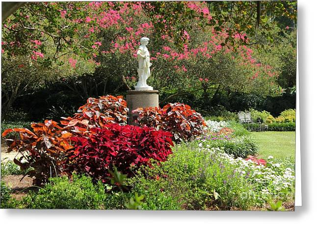 Garden Statuary Greeting Cards - The Orangerie Garden Greeting Card by Theresa Willingham