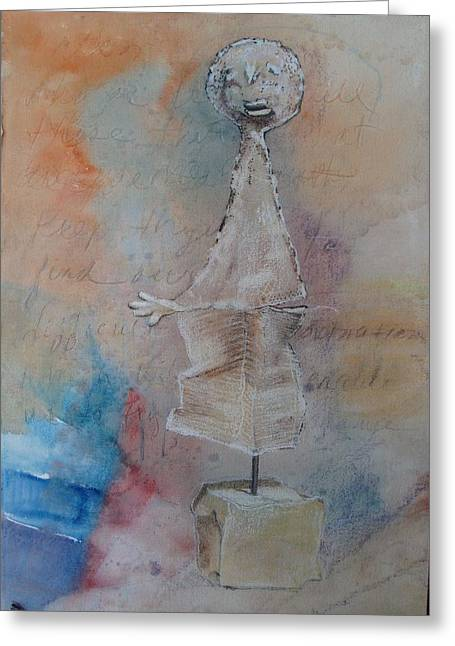 Orator Pastels Greeting Cards - The Orator Greeting Card by Karen Coggeshall