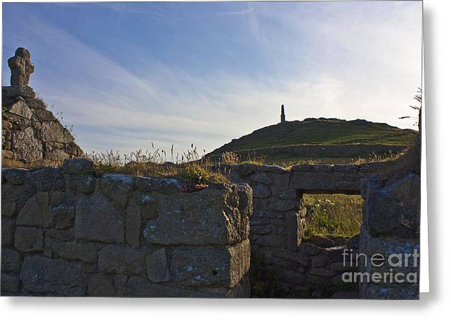 Cape Cornwall Greeting Cards - The Oratory Cape Cornwall Greeting Card by Terri  Waters