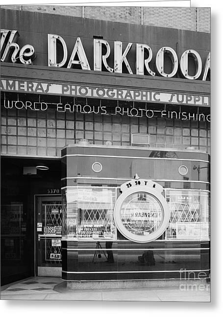 Darkroom Greeting Cards - The Original Darkroom Greeting Card by Vintage