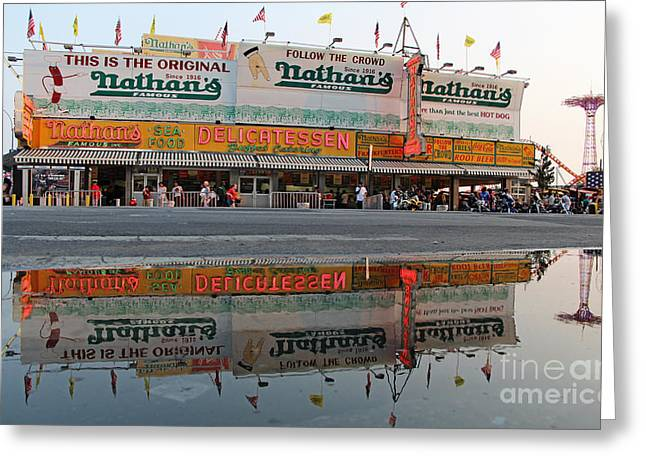 Deli Greeting Cards - The Original Nathans Greeting Card by Nishanth Gopinathan