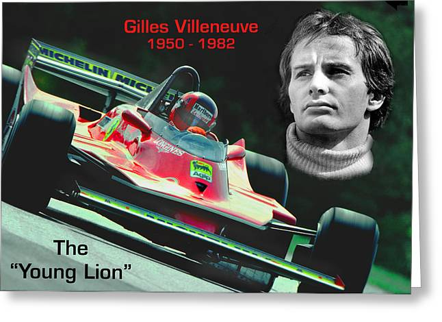 Canadian Grand Prix Greeting Cards - The ORIGINAL Young Lion Greeting Card by Mike Flynn