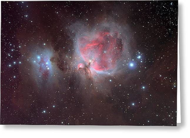 Abstract Digital Photographs Greeting Cards - The Orion Nebula Greeting Card by Celestial Images