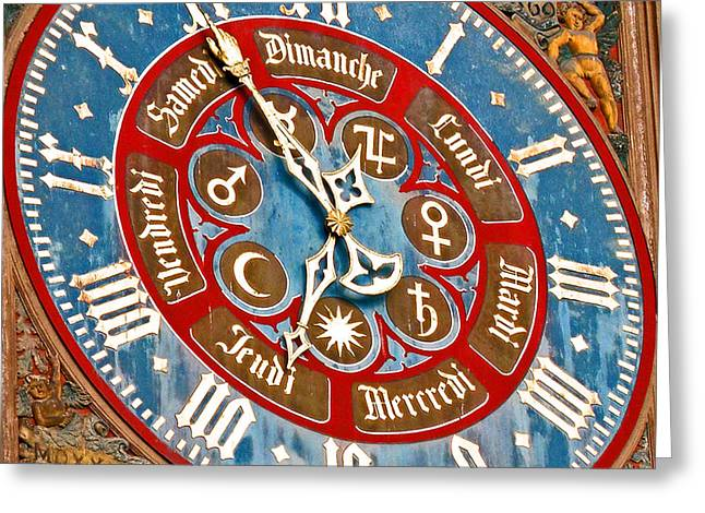 Virgin Mary Greeting Cards - The Other Clock Greeting Card by Jean Hall