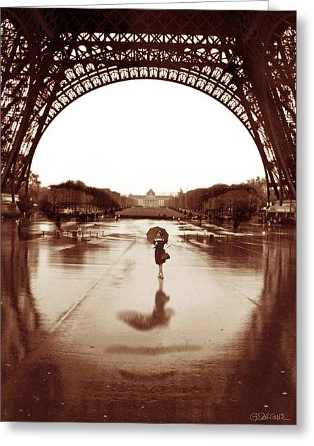 Tour Mixed Media Greeting Cards - The Other Face Of Paris Greeting Card by Gianni Sarcone