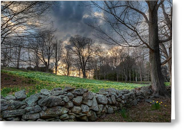 Stone Fence Greeting Cards - The Other Side Greeting Card by Bill  Wakeley