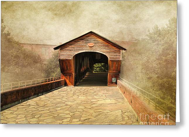 Wooden Bridges Greeting Cards - The Other Side Greeting Card by Jai Johnson