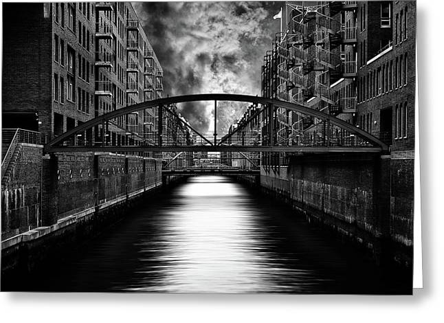 The Other Side Of Hamburg Greeting Card by Stefan Eisele