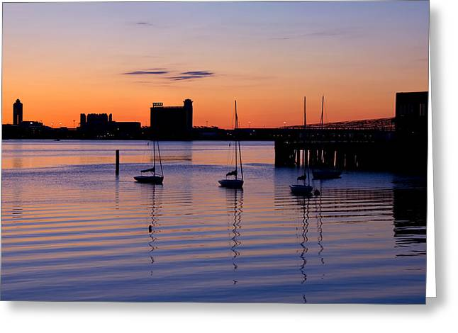 Hyatt Hotel Greeting Cards - The Other Side of the Harbor Greeting Card by Joann Vitali