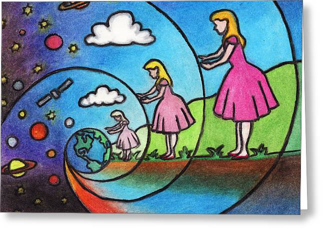 Planet Earth Pastels Greeting Cards - The Other Side of the Rabbit Hole Greeting Card by Ashley King