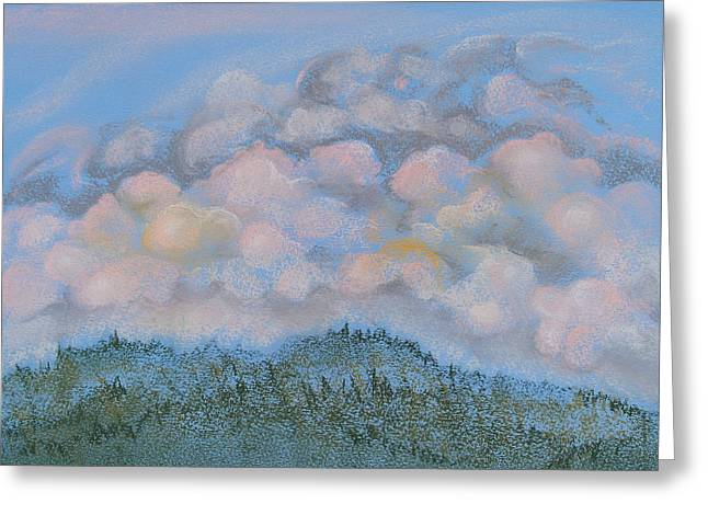 Cloudy Pastels Greeting Cards - The Other Side of the Sunset Greeting Card by Michele Myers