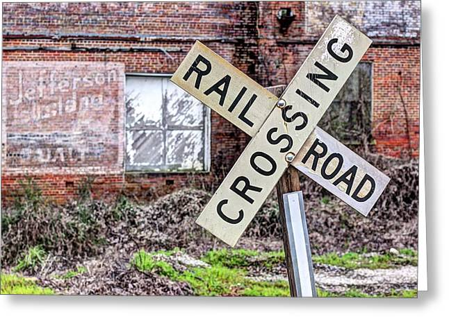 Small Town Usa Greeting Cards - The Other Side of the Tracks Greeting Card by JC Findley
