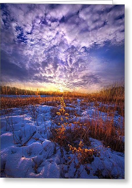 Sunrise Greeting Cards - The Other Side of Waking Greeting Card by Phil Koch
