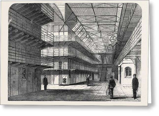 The Outbreak Among The Convicts At Chatham Interior Of St Greeting Card by English School