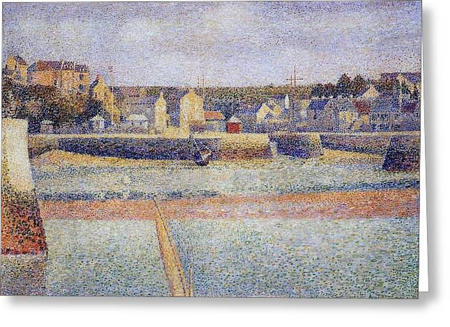 Seurat Greeting Cards - The Outer Harbor Greeting Card by Georges Seurat