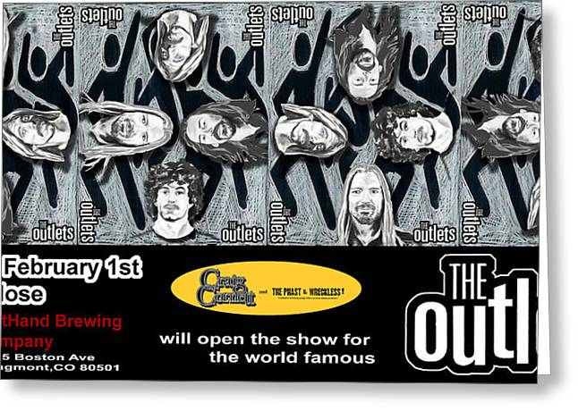 Live Music Mixed Media Greeting Cards - the OUTLETS Greeting Card by David Fossaceca