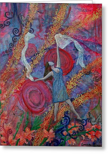 Kingdom Of Heaven Greeting Cards - The Overcoming worshipper Greeting Card by Cassandra Donnelly
