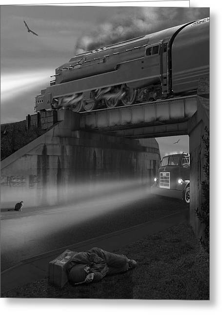Iron Greeting Cards - The Overpass Greeting Card by Mike McGlothlen