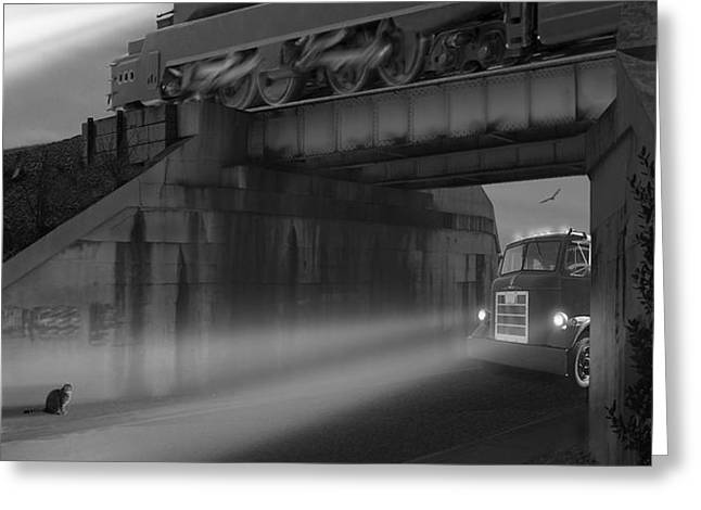 The Overpass Greeting Card by Mike McGlothlen