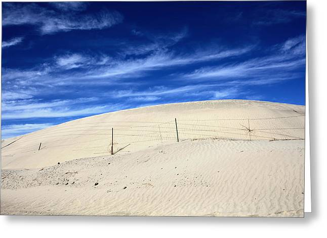 Sand Pattern Greeting Cards - The Overtaking Greeting Card by Laurie Search