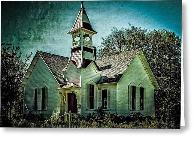 Photo Gallery Website Greeting Cards - The Oysterville Church Greeting Card by Thom Zehrfeld
