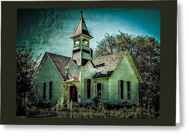 Canvas Art Prints Greeting Cards - The Oysterville Church Greeting Card by Thom Zehrfeld
