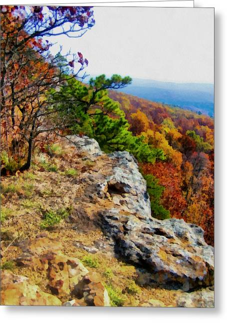 Arkansas Greeting Cards - The Ozarks in Autumn Greeting Card by Ann Powell