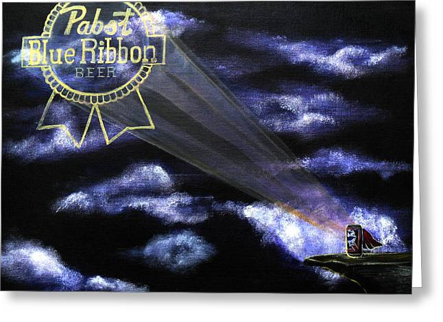 Pbr Greeting Cards - The Pabst Signal Greeting Card by J Kae